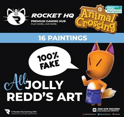 Animal Crossing: New Horizons -  ALL 16 OF JOLLY REDD'S HAUNTED PAINTINGS!!!