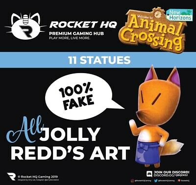 Animal Crossing: New Horizons - ALL 11 OF JOLLY REDD'S HAUNTED STATUES!!!