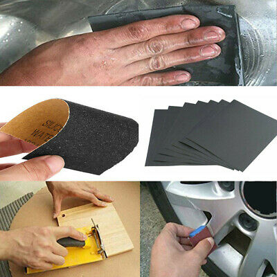 Polished Tools Wet Dry Sandpaper Abrasive Sanding Paper Sheet 120-8000 Grit