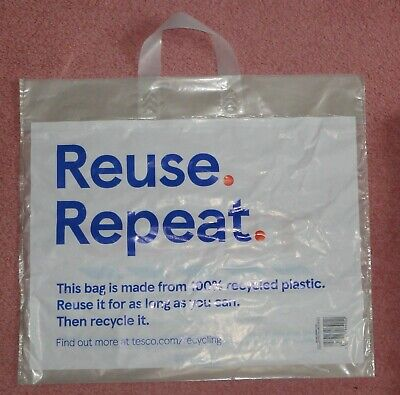 15x Tesco Reuse Repeat Plastic Recyclable Food Shopping Carrier Bag