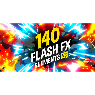 VideoHive 140 Flash FX Elements V.3 AEP