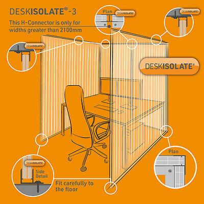 Office Desk Protective Screen | Desk Partition | 2400mm Tall