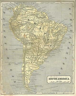 1853 Map of South America