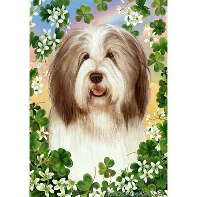 Clover House Flag - Brown and White Bearded Collie 31482
