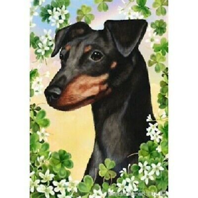 Clover House Flag - Uncropped Black and Tan Miniature Pinscher 31084