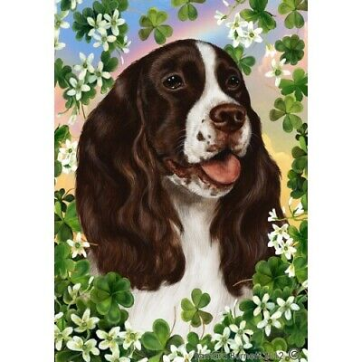 Clover House Flag - Liver and White English Springer Spaniel 31031