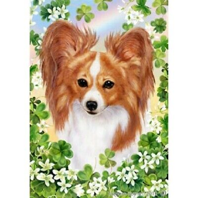 Clover House Flag - Red and White Papillon 31064