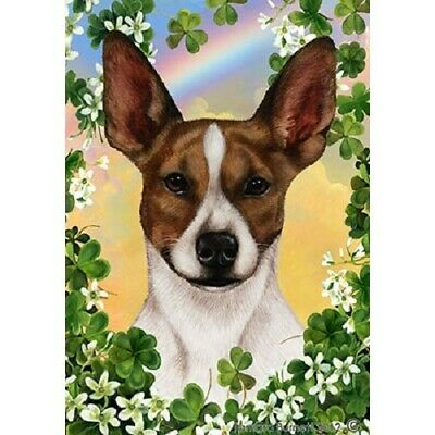 Clover House Flag - Brown and White Rat Terrier 31130