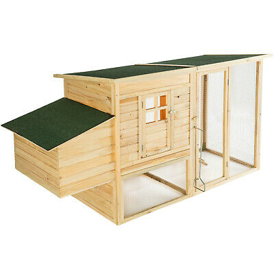 Chicken Coop & Run Hen House Poultry Nest Box Ark Home Coup Chicken Rabbit Hutch