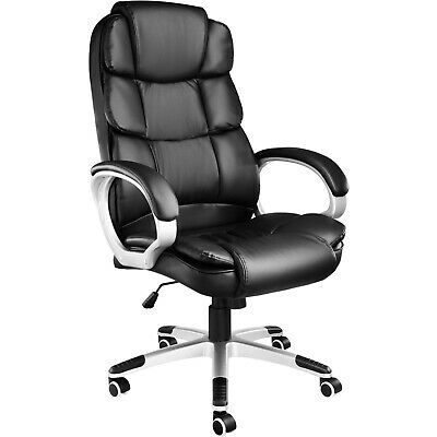Office Chair Ergonomic Executive Swivel Desk Computer PU Leather Padding Black