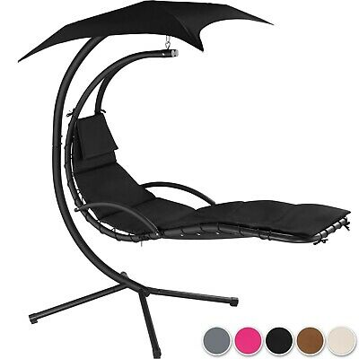 Swing Chair Parasol UV Protection Helicopter Hanging Chaise Lounger Patio Garden