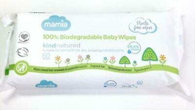100% Biodegradable Baby Wipes (60x3 Packs)