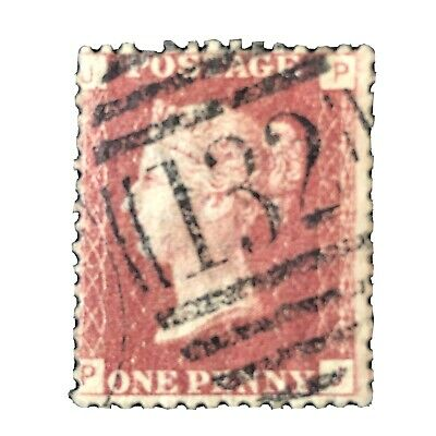 GREAT BRITAIN, SCOTT # 33, 1p. VALUE QV ROSE RED PLATE # 149 1864 ISSUE USED