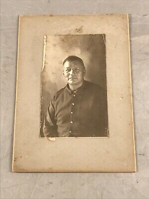 Antique Native American Green Rainbow Police Of Treaty Cabinet Card Photograph