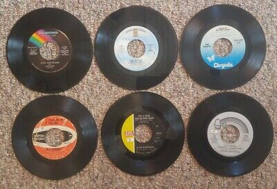 45 rpm classic pop vinyl records.  You pick 6  Great titles to choose from