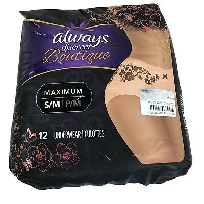 Always Discreet Boutique Underwear S/M 12 Count Incontinence Damaged Packaging
