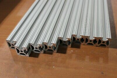 8020 Inc 1 x 1 Bi-Slotted T-Slot Aluminum Extrusion 10 Series 1002 Lot 12 (8pcs)