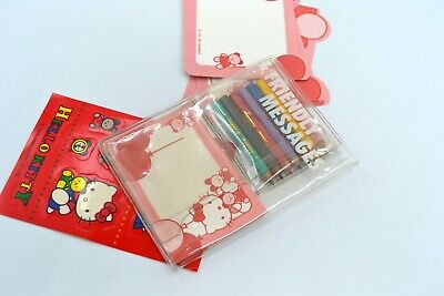 Vintage Sanrio Hello Kitty Friendly Messages Stationery Set*Pencils Stickers