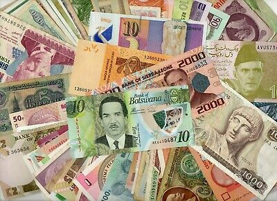 *** Wow !!  Unsorted Auction  Lot Of More Than 150  World Notes  !!  ***