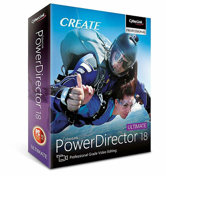 CyberLink PowerDirector Ultimate 18 Genuine Life time License | FAST DELIVERY |