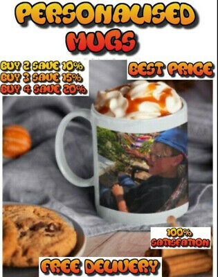 Personalised Photo Mug Cup Custom Design Image SPECIAL OFFER AT £5.49 EACH