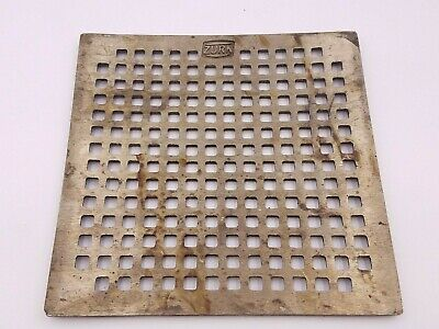 "Zurn 56758-001 Drain Cover Grate Cover Brass 7-1/2"" x 7-1/2"" Square Floor Used"