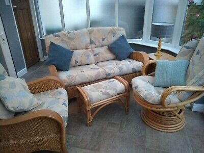 conservatory cane furniture used