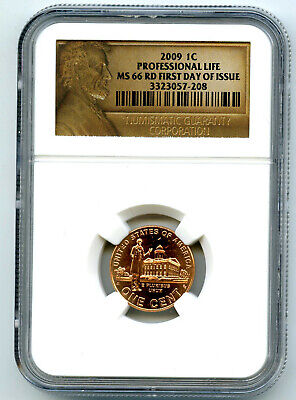 2009 P Us Mint Cent Professional Life Ngc Ms66 Rd Lincoln First Day Of Issue