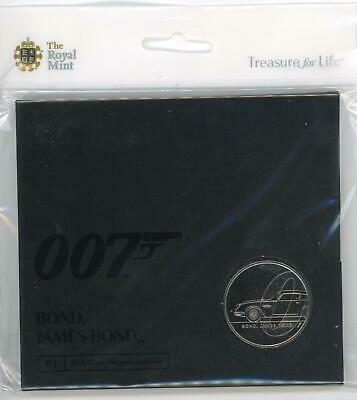Royal Mint 2020 - 007 James Bond £5 BUC Coin in sealed collector's pack LOOK!