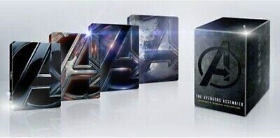 Marvel Avengers 4 Movie Collection Steel book 4K Ultra HD Blu Ray Sealed, NEW