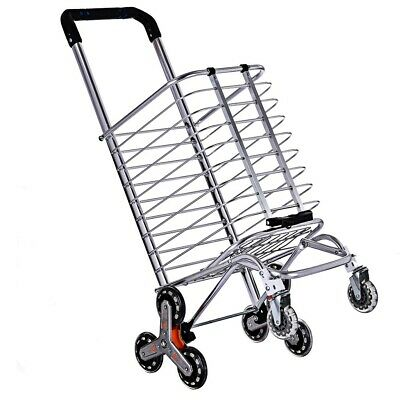 Utility Shopping Cart Foldable Jumbo Basket Trolley Grocery Laundry With Wheels