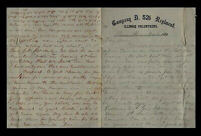 CIVIL WAR LETTER - 52nd Illinois Infantry - On Steamboat Sailing to Ft Henry, TN