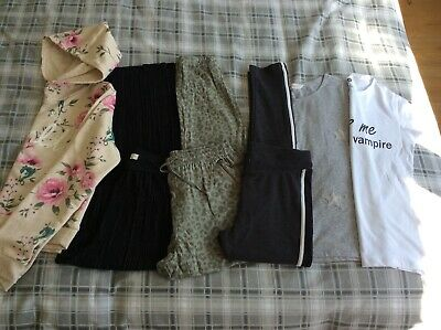 Girls clothes bundle H&M trousers T-shirt Hoody 14 yrs + up to 170 cm