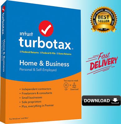 TurboTax Home & Business 2019 ✅ 50% OFF ✅  Fast Delivery
