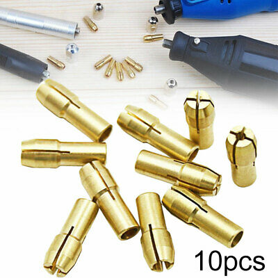 10Pcs Brass Brass Drill Chuck Collet Bit For Dremel Rotary Tools Accessories New
