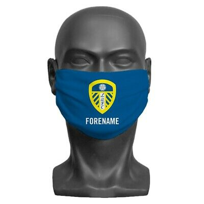Leeds United F.C - Personalised Adult Face Mask (CREST)