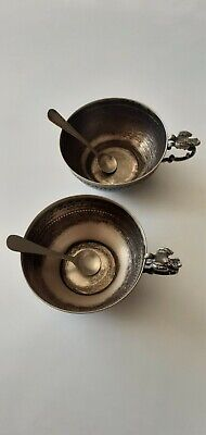 Antique solid silver Ottoman Cups With Spoon