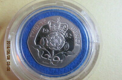 1982 Great Britain 20 Pence Proof Coin In Royal Mint Case