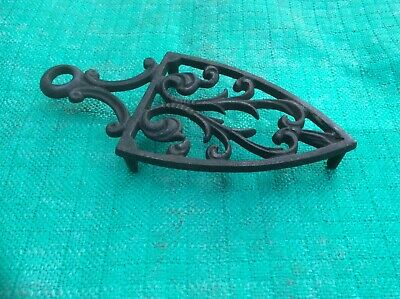 Small Vintage Ornate cast Iron Trivet - Iron Trivet