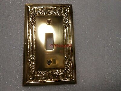 Vintage Ornate Cast Brass Light switch Outlet Cover