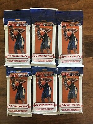 (6) 2019-2020 Panini NBA Hoops Cello Fat Pack Lot Of 6 -Teal Inserts ZION JA RC?