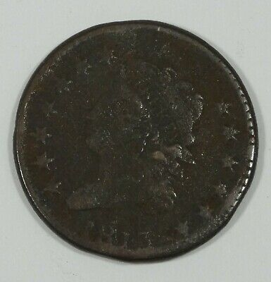 BARGAIN 1813 Classic Head Large Cent  VERY GOOD+ 1c