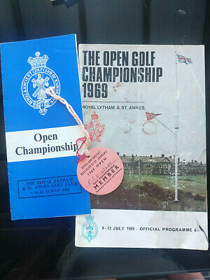 1969 Open Golf Championship @ Royal Lytham. Programme + Member tag and extra