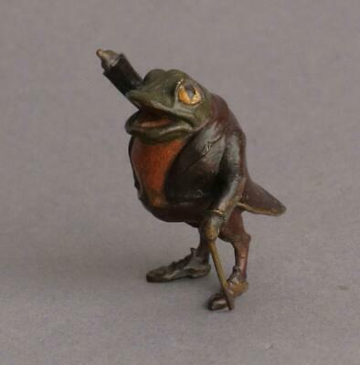 Lovely COLD PAINTED BRONZE Vintage MR TOAD Miniature WIND IN THE WILLOWS Frog