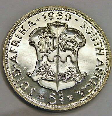 South Africa - 1960 - Proof Silver 5 Shillings - 50th Anniversary