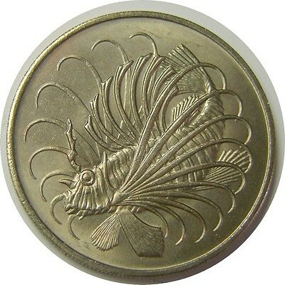 elf Singapore 50 Cents 1975  Lionfish  Fish