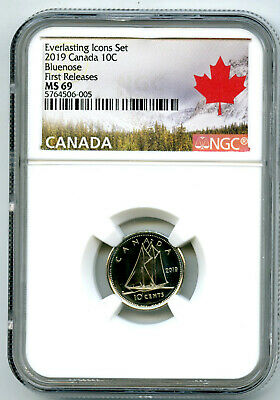 2019 Canada 10 Cent Everlasting Icons Dime Ngc Ms69 First Releases Top Pop Rare