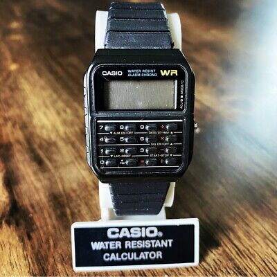 CLEAN Vintage 1996 Casio CA-53W Digital Calculator Watch Mod 437 + Display Case