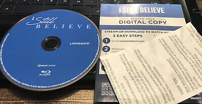 I Still Believe Blu Ray Disc Only With Digital Code Never Used New
