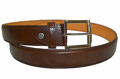 """Belt Mens Big And Tall Jeans New Brown Leather Size 46"""" Stylish Casual Belt"""